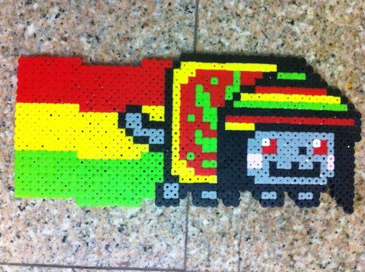 Rasta Nyan Cat perler beads by