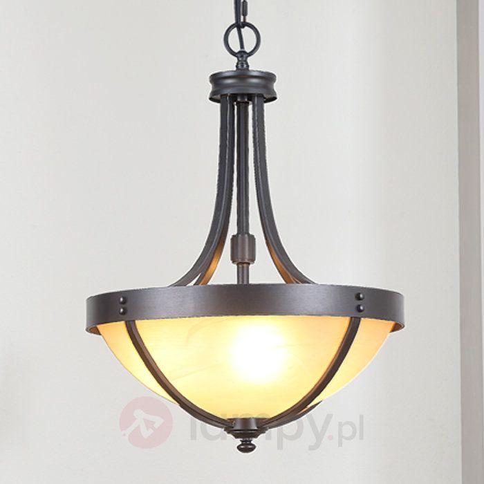 Rustykalna lampa wisząca MAIKO ze szkła i metalu 9620350
