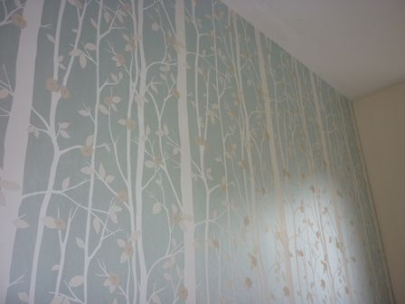 Bedroom Wallpaper Duck Egg Blue