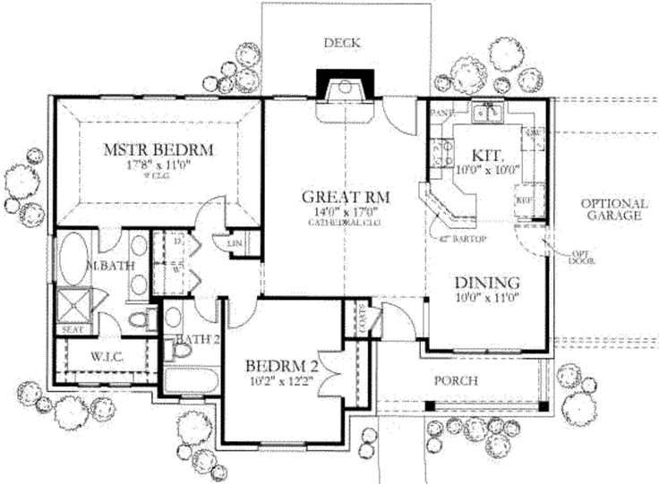 872 best cabin and cottage images on pinterest house layouts ranch style house plan 2 beds 200 baths 1092 sqft plan 80 101 malvernweather Gallery