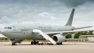 David Cameron to take first flight on converted VIP RAF Voyager - BBC News