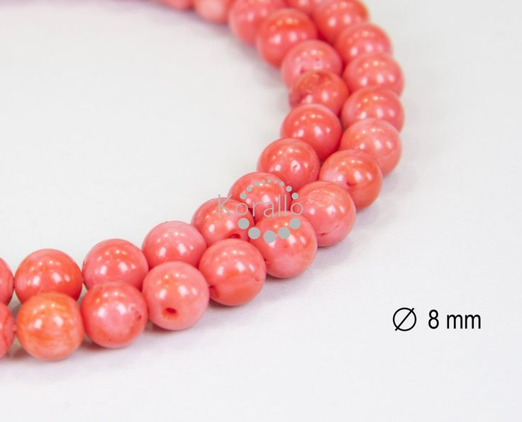 Korál bambusový růžový 8 mm