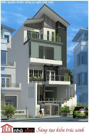 Không quá cầu kỳ trong thiết kế kiến trúc, mẫu nhà phố đẹp nổi bật với ngôn ngữ tạo hình đơn giản, hình khối khúc triết.Mẫu nhà phố 4 tầng mang phong cách kiến trúc hiện đại là một trong những công trình điển hình do công ty kiến trúc Ngôi Nhà Xinh đảm nhận thiết kế và thi công xây dựng. Sự kết hợp khéo léo giữa những mảng màu, những mảng vật liệu với nhau tạo thành một bố cục hài hòa tươi tắn đóng góp cho bộ mặt chung của đô thị.