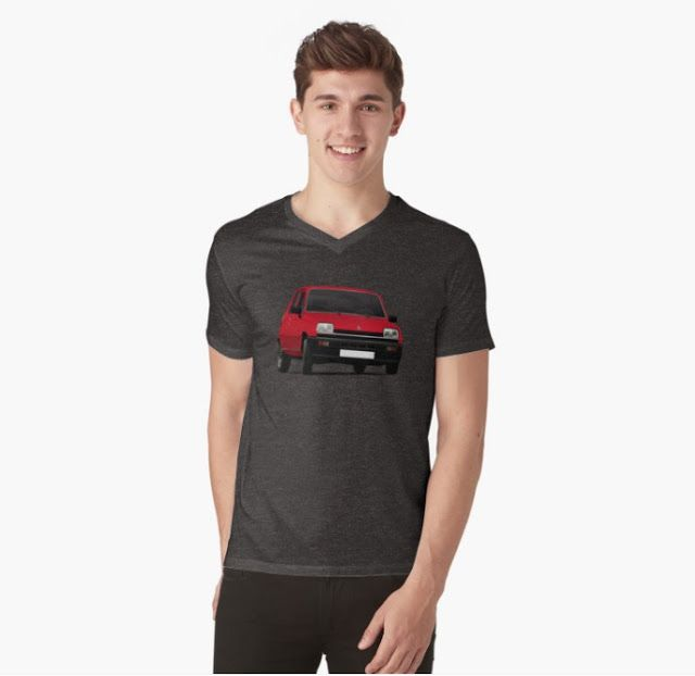 Renault 5 (1971 - 1985) t-shirt.  #renault #renault5 #renaultr5 #automobile #france #french #shirt #classiccars #illustration #carillustration #70s #80s #car #red #tshirt #automobiles