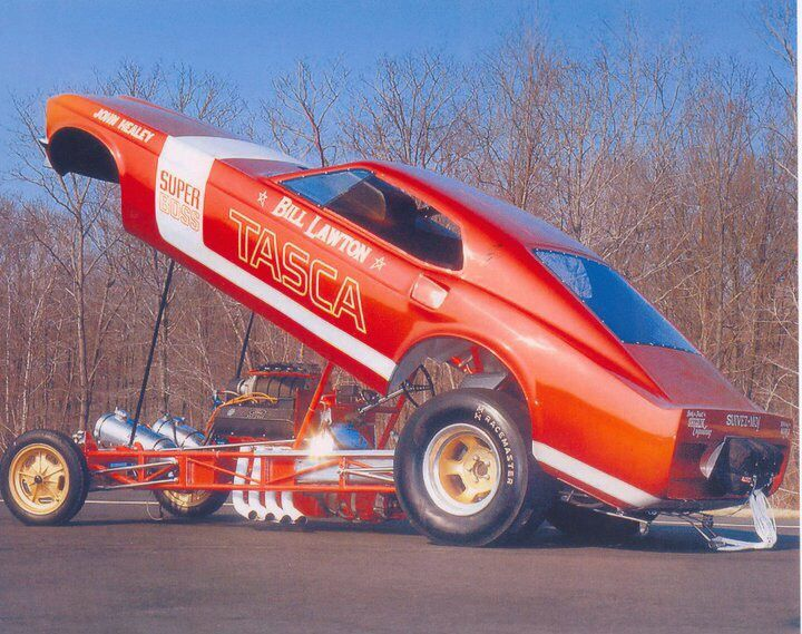 Vintage Drag Racing - Funny Car - Bill Layton and TASCA Ford