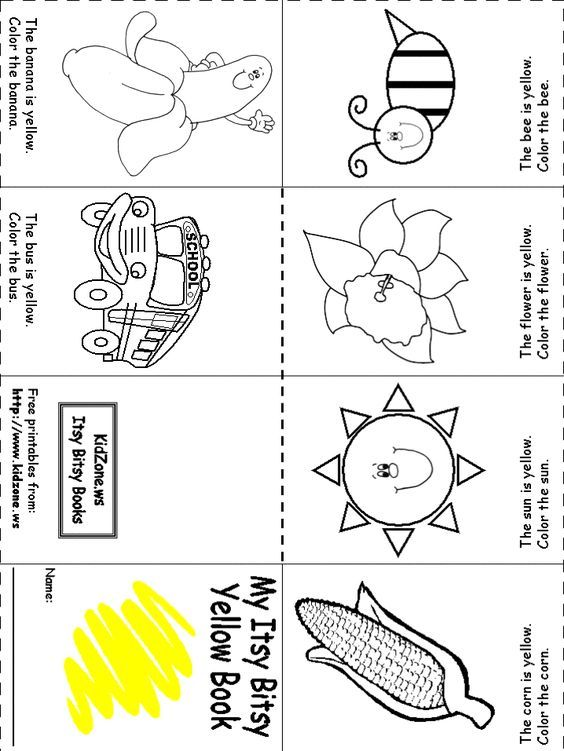 Week 1 Color Recognition Yellow | Preschool colors ...