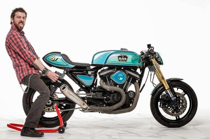 Matt Black Sportster Cafe Racer ~ Return of the Cafe Racers