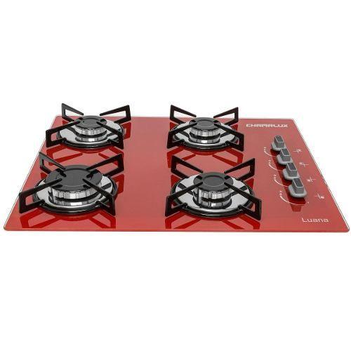 Cooktop Chamalux Ultra Rápido 4 Bocas Vermelho - R$ 357,76 em Mercado Livre