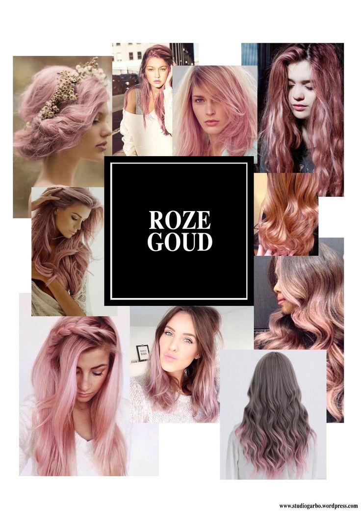 Haar roze goud verven. 2015 trend, herfst kleur