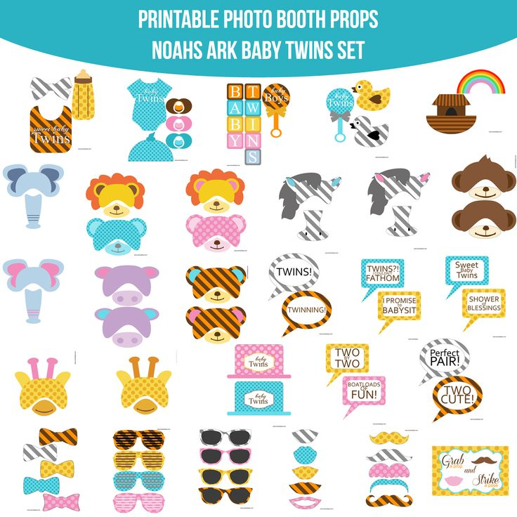 Diy Photo Booth Props Templates Baby Shower Baby Shower Photo Booth ...