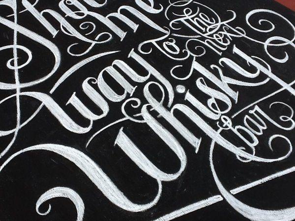 Lovely chalk calligraphy by francisco javier sassano via