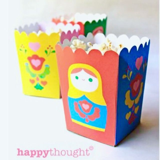 Gorgeous Russian Matryoshka Doll party printables by Happythought