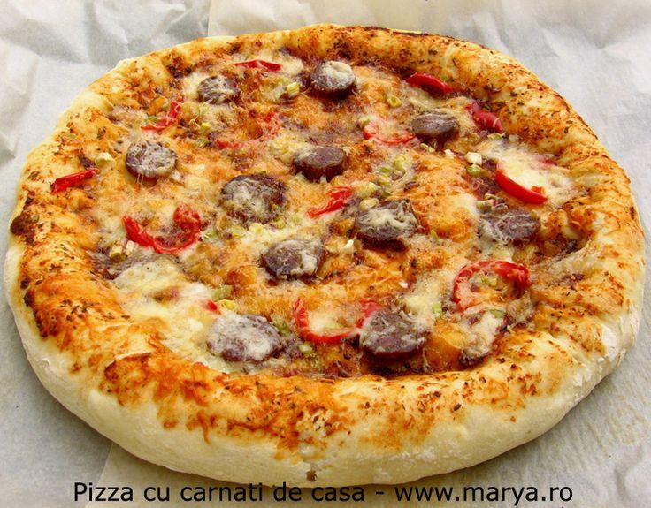 Marya.ro Pizza cu carnati de casa | Culinar, Pizza