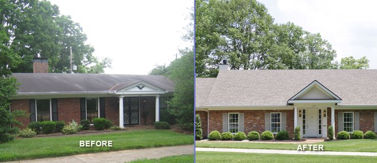 Remodeling louisville home remodeler home repair and for Before and after exterior home makeovers