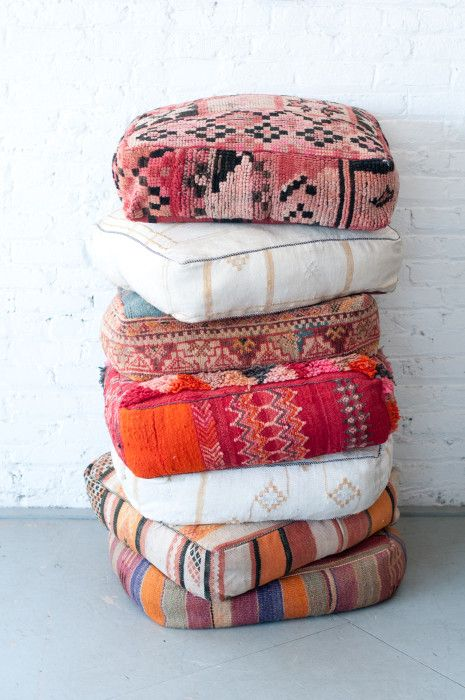 We can just stack these Moroccan Floor pillows all day, every day!!! Couldn't you?!!