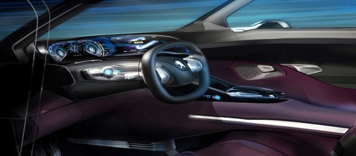 interior of peugeot hr1 concept car car interiors pinterest. Black Bedroom Furniture Sets. Home Design Ideas