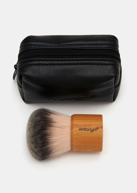 """Vegan Kabuki Brush by Antonym - I've used the eco bamboo ones sold at Whole Foods and Target, but the kabuki never has quite a """"thick"""" or dense enough feel. this one looks pretty tight."""