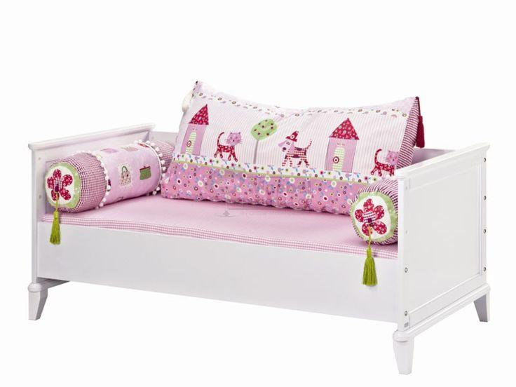 Great Paidi Sophia Kinderbett Schlupfsprossen Federleistenrost h henverstellbar zum Kindersofa oder Juniorbett umbaubar