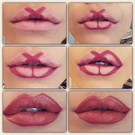 Пухлые губы без инъекций. 8 техник макияжа, к…