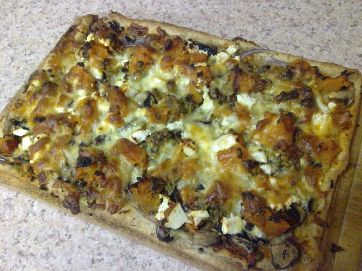 Sweet potato, lentil and feta pizza. | Food | Pinterest