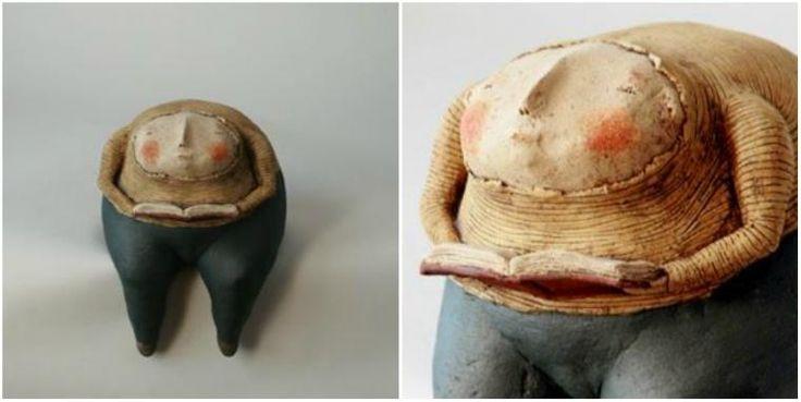 Anne-Sophie Gilloen создала свой удивительный мир скульптур, совсем не пафосных и статичных, а очень трогательных и наполненных теплыми воспоминаниями. В этом маленьком мире любят деревья, объятия, морковку, птиц, животных, книги, чемоданы и цветы :) Каждый погружен в свое дело, даже если оно на первый взгляд совсем и не дело, а для кого-то вообще пустая трата времени, но в этом мире именно такие небольшие дела имеют большое значение!