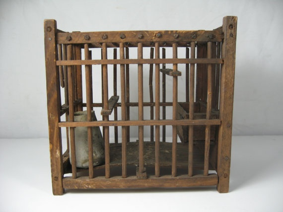 Vintage Coal Miners Canary Cage Mine Towns