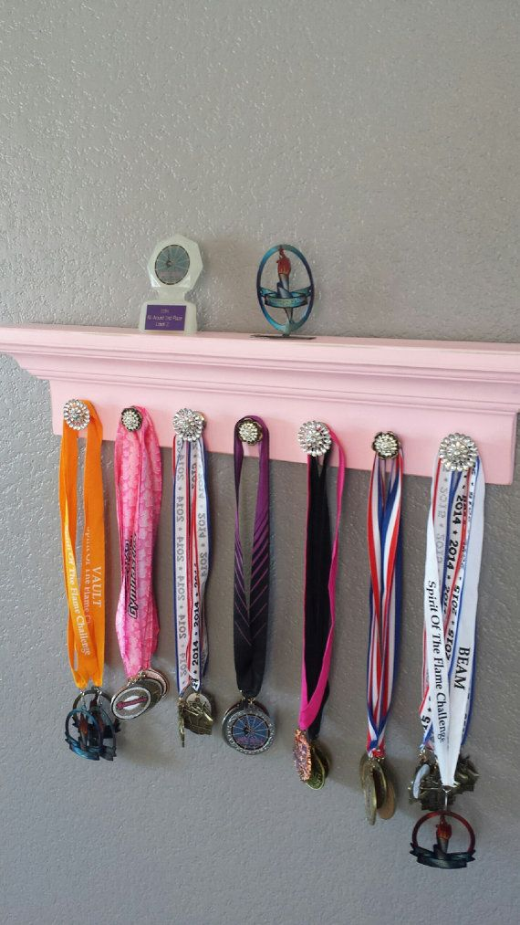 Gymnastics Medal Holder & Trophy Display by BehindTheBarnDoors