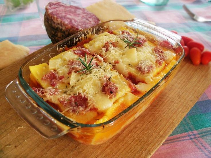 Polenta pasticciata ai formaggi