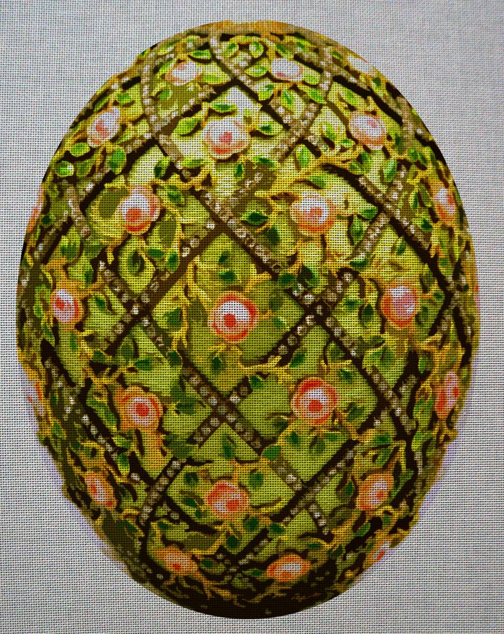 Needlepoint canvas 'Easter Green royalty egg'