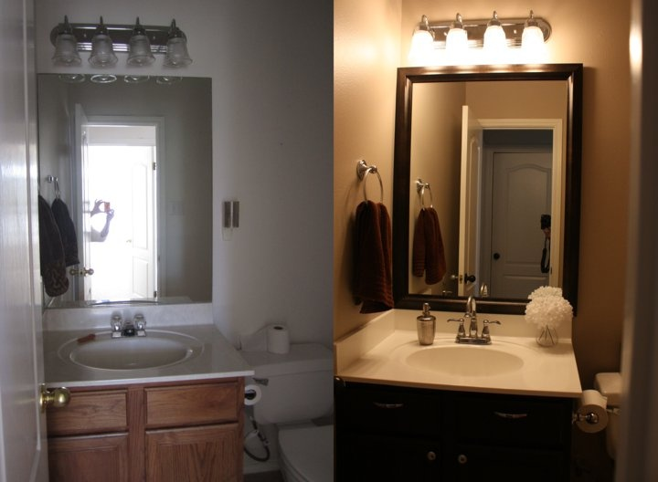 Powder Room Before After Painted The Walls Resurfaced