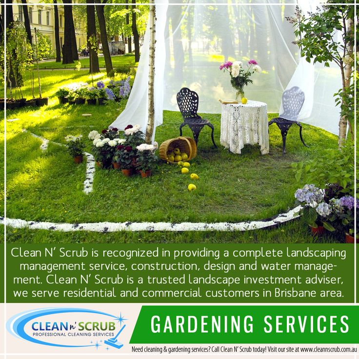 Clean N' Scrub is recognized in providing a complete landscaping management service, construction, design and water management. Clean N' Scrub is a trusted landscape investment adviser, we serve residential and commercial customers in Brisbane area.  Visit our website at www.CleanNScrub.com.au to view our services.  You can book a FREE quote for our services by sending us an email to booking@cleannscrub.com.au or contact us on Skype CLEANNSCRUB or phone (07) 3040 3003.