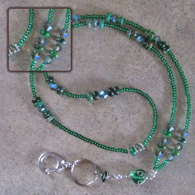 Emerald City Beaded Lanyard