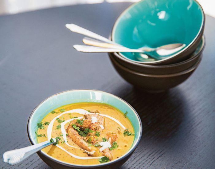 Gulrot- og linsesuppe med koriander - Tara