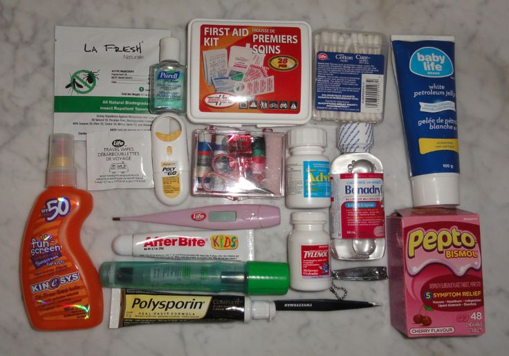 emergency family travel medical kit for toddlers and kids