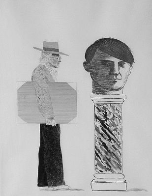 David Hockney-'The Student: Homage to Picasso'