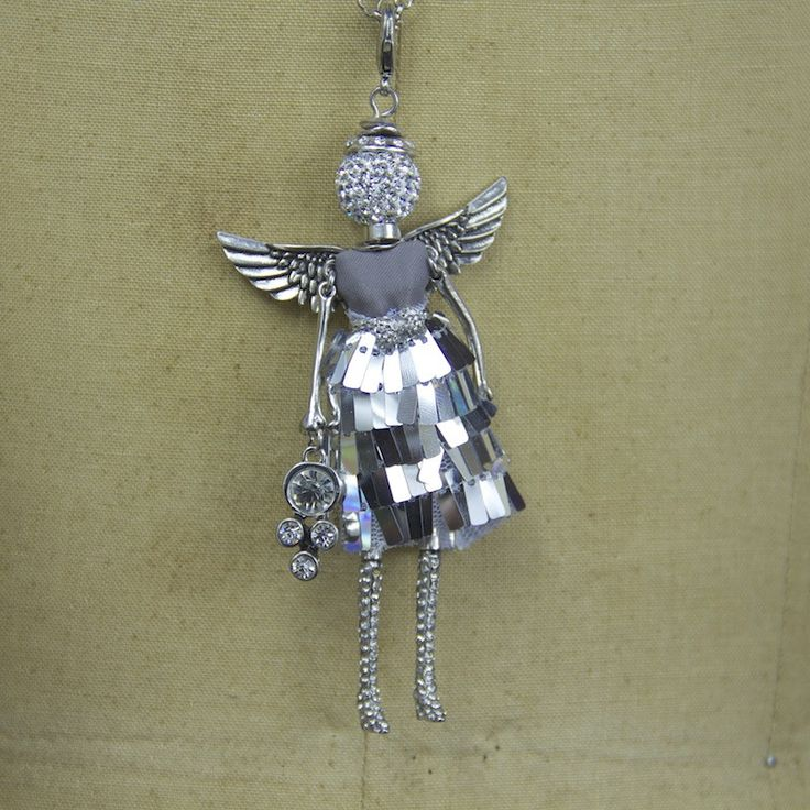 April Angel Necklace from The Holiday Barn