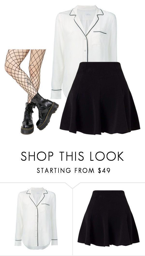 """""""Untitled #119"""" by ifrancesconi on Polyvore featuring Equipment, Miss Selfridge and Leg Avenue"""