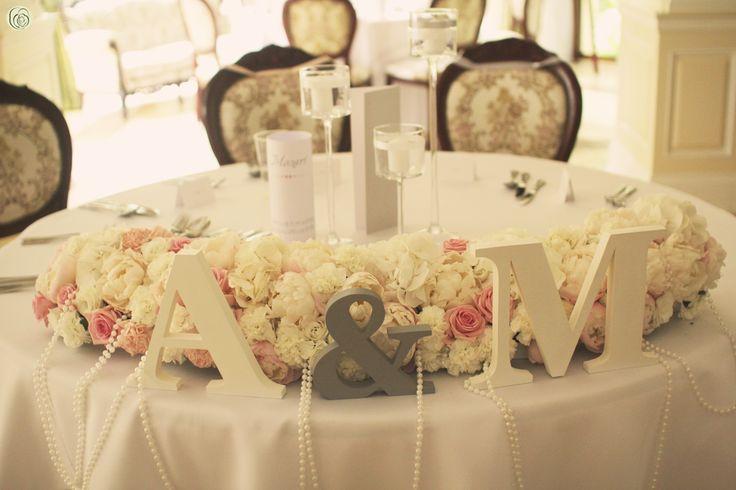 wedding table decoration, peonies