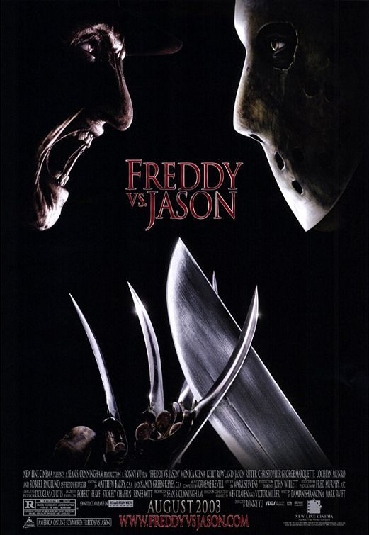 Freddy vs. Jason , starring Robert Englund, Ken Kirzinger, Kelly Rowland, Monica Keena. Freddy Krueger and Jason Voorhees return to terrorize the teenage population. Except this time, they're out to get each other, too. #Horror #Thriller