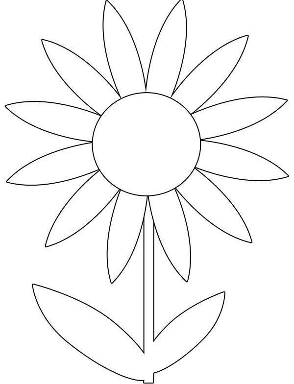 Cute Spring Flower Coloring Pages Zabelyesayancom Flower Printable Flower Coloring Pages Flower Stencil