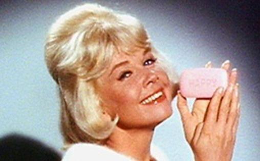 Doris Day as Beverly Boyer, hawking Happy Soap