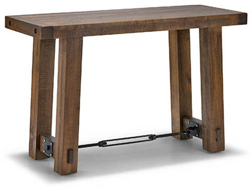 Rustic sofa table canada baci living room sofa table console turnbuckle behind canada watchthetrailerfo