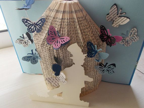 book folding sculpture the boy with butterflies by mademeathens