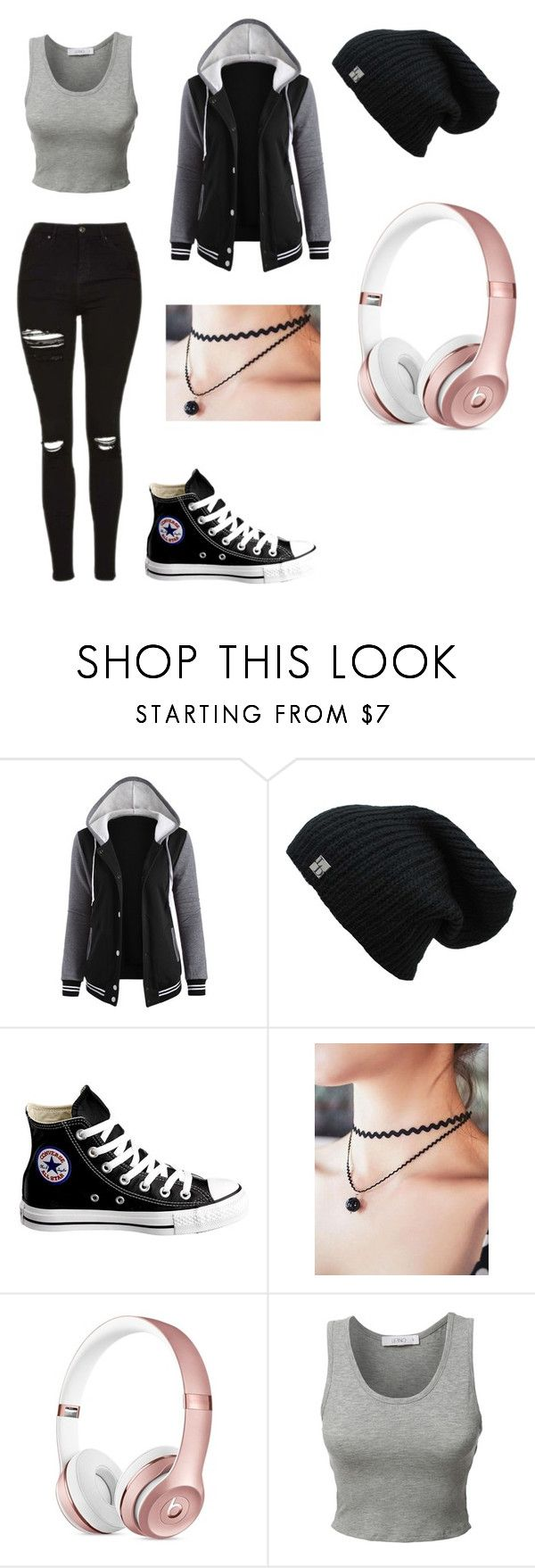 """MY2-1"" by theemounicorn0907 ❤ liked on Polyvore featuring Converse and LE3NO"