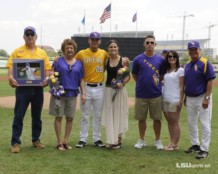 "LSU Baseball vs. Ole Miss - Game 3, Senior Day: Joey Bourgeois and family. Tigers will miss the ""B"" relief pitchers."