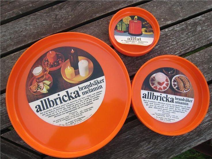 ALLFAT I MELAMIN 3ST RETRO på Tradera.com - Plast - Antikt och design |