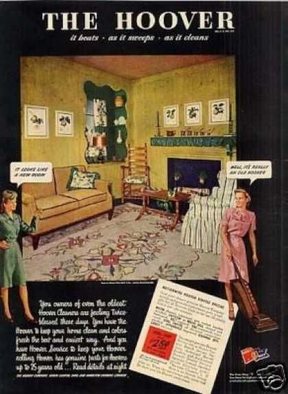 Hoover Vacuum Cleaner 1945 Vintage Ads 1940s Homes