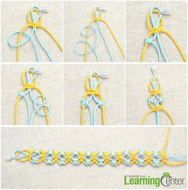 Starting Knot for Bracelet   start knitting lark's head knot bracelet