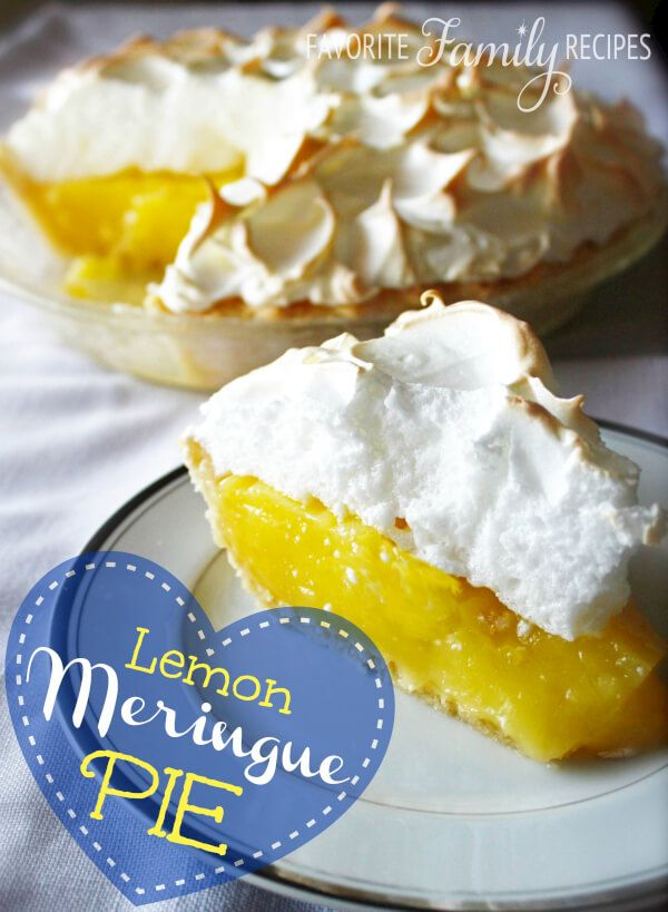 Lemon Meringue Pie is one of my all-time favorite pies. This is definitely one of our more treasured family recipes--thanks Mom!