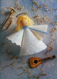 Doily Angel is an easy Christmas craft for kids.